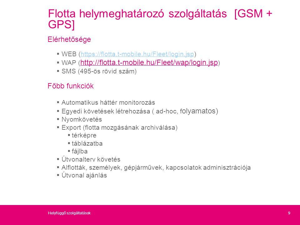 Flotta helymeghatározó szolgáltatás [GSM + GPS]